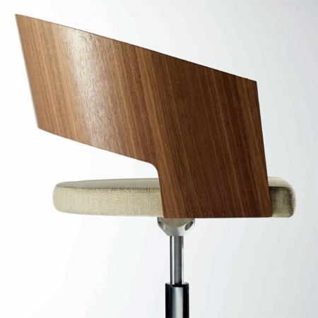 Source Botte Wooden Shell with Upholstered Seat